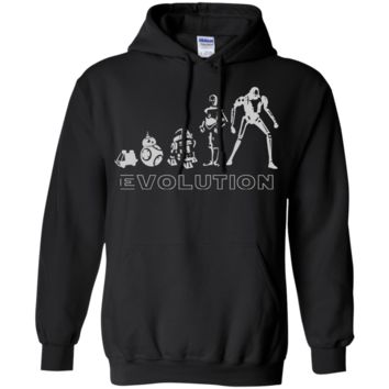 Star war t shirt - Robot Evolution Space War in the Stars Graphic Funny Parody G185 Gildan Pullover Hoodie 8 oz.