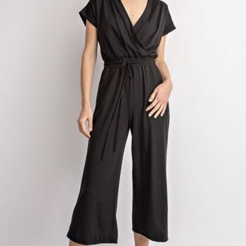 Wide Leg Crop Jumpsuit