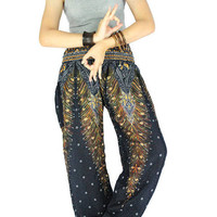 Harem pants Boho pants Hippie clothes Peacock pants
