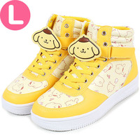 Pompom pudding sneakers with anime clip sneaker L ☆ ★ kuroneko DM flights cannot be