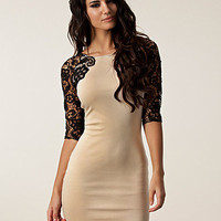 Lace Sleeve Dress, Lipsy