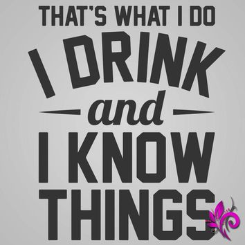 Drink And Know Things Unisex Raglan