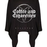 Buy Coffee Drape Top - Buy Online Australia Tragic Beautiful
