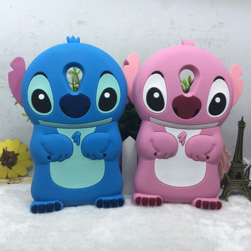 Soft Silicone Protective phone Cover For Wiko Robby 3D Cartoon Stitch cover case for Wiko Robby  5.5 inch