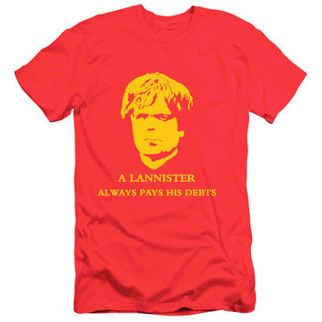 Tyrion Lannister Golden Lion A Always Pays His Debts Game Of Thrones T Shirt Cotton Short Sleeve Mens T Shirts Men Women Tees