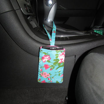 Floral Car Phone Holder - Car Sunglass, Gum, Coin, Ipod Holder