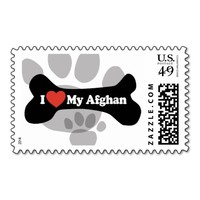 I Love My Afghan - Dog Bone