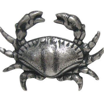 Silver Toned Sleek Crab Magnet