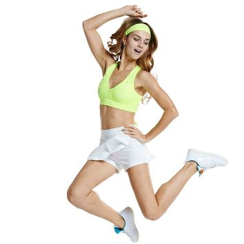 Lefan New Tennis Skirt Suit Loie Cheerleading Aerobics Yoga Female Costume Suit Dance Skirs for Girls with Safety Pants