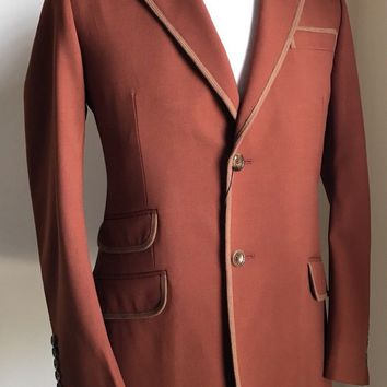 New $2200 Gucci Men's Sport Coat Jacket Dark Brown 40R US ( 50R Euro ) Italy