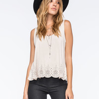 GYPSIES & MOONDUST Eyelet Womens Suede Tank | Tanks