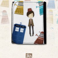 Doctor Who and the Daleks leather wallet , TARDIS