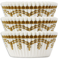 Gold Filigree Baking Cups