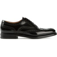 Church's punch hole detail lace-up shoes