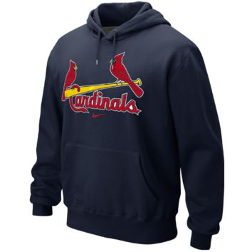 St. Louis Cardinals Nike Classic Pullover Hoodie – Navy Blue