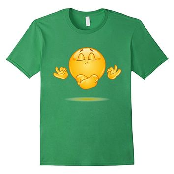Emoji Shirt Meditating emoticon Yoga Shirt