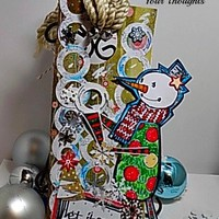 Let It Snow Handmade Oversized Gift Tag.Ready to Ship .