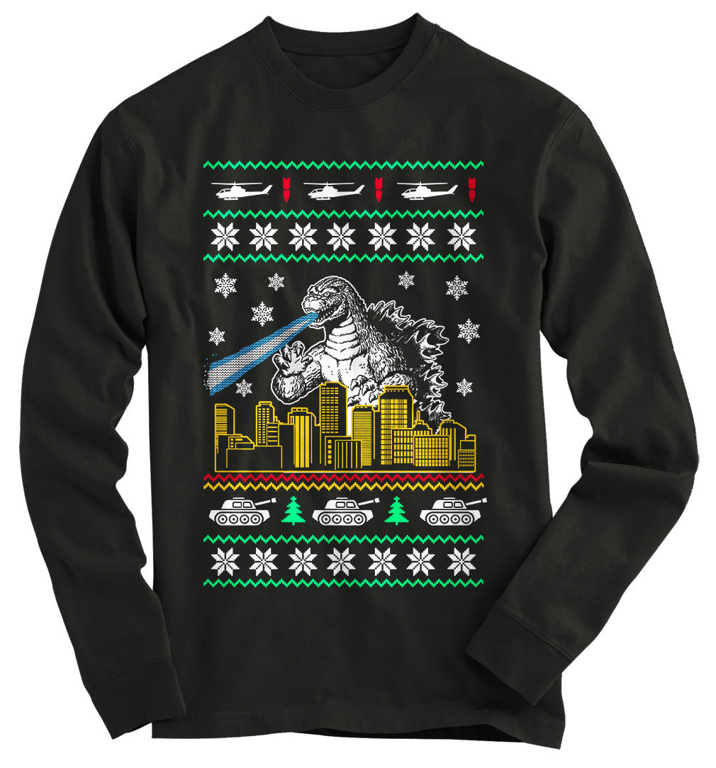 Godzilla Ugly Christmas Sweater from Gnarly Tees | Clothes I want