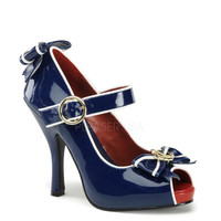 Funtasma Blue Anchor Open Toe Platform