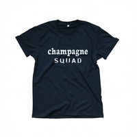Champagne squad t-shirts for women tshirts shirts gifts t-shirt womens tops