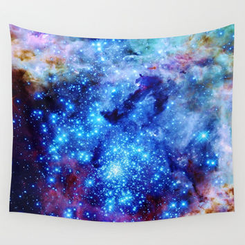 Wall Tapestry, Galaxy Wall Tapestry, Galaxy Wall Hanging, Wall Decor, Lightweight, Galaxy Tapestry, Blue Tapestry, Space Wall Tapestry,S M L