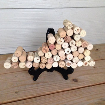 Wine Cork States, Handmade Wooden Wine Cork States, Wine Cork Decor