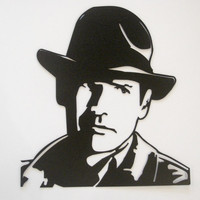 Harrison Ford As Indiana Jones Metal Wall Sculpture