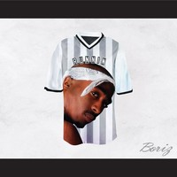 Tupac Shakur Makaveli 6 Runnin White/Gray Football Jersey