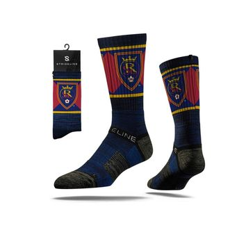 Strideline® 2.0 MLS Real Salt Lake Blue - Blue–Black–Red Crew Socks