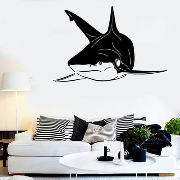Wall Stickers Vinyl Decal Shark Fish Ocean For Bathroom Decor (ig145)