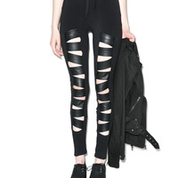 Tripp NYC Z-Cut Leggings Black