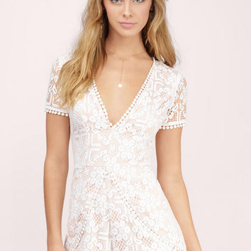 Oh So Lacey Plunging Romper
