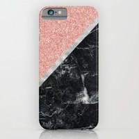 Faux Rose Glitter and Marble Pattern iPhone & iPod Case by heartlocked