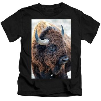 In The Presence Of  Bison - Yes Paint Him - Kids T-Shirt