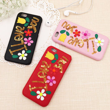 Cute On Sale Iphone 6/6s Hot Deal Stylish Iphone Korean Floral Alphabet Apple Phone Case [8153012103]