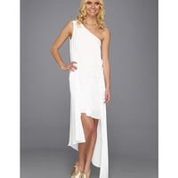 BCBGMAXAZRIA Margo One-Shoulder Dress White - Zappos.com Free Shipping BOTH Ways