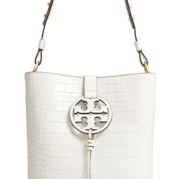 Tory Burch Miller Embossed Leather Hobo Bag | Nordstrom