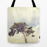 Tree and Sky Tote Bag by Erin Johnson