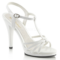 Fabulicious White Strappy Flair Sandal