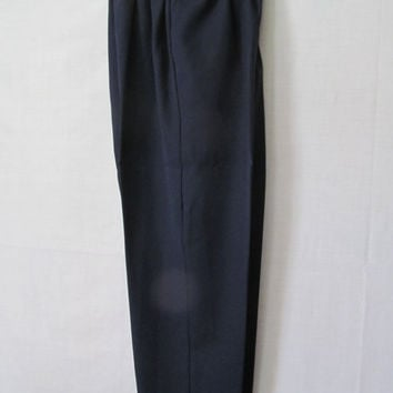Ladies Black Slacks sz L XL Womens Alfred Dunner Black Pants womens sz 14 Dress Pants Womens Elastic Waist Pants Black Dress Pants