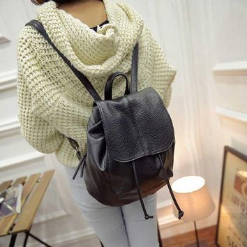 New Fashion Women Backpack Unique Woven Casual Double Shoulder Bags Soft PU Leather Students School Bag Popular