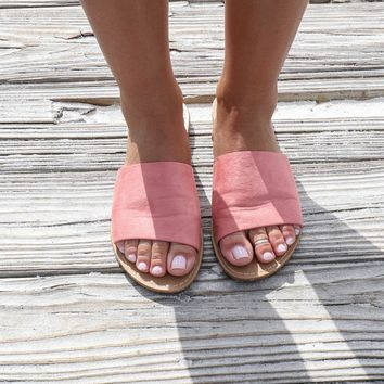Addicted To Me Mauve Slides - Amazing Lace