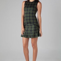 Torn by Ronny Kobo Fal Dress in Green Plaid Combo