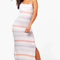 Mona Variated Stripe Maxi Dress | Boohoo