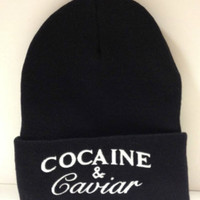COCAINE AND CAVIAR winter long beanie one size fits all