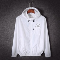 Boys & Men Ripndip Long Sleeve Cardigan Jacket Coat Windbreaker