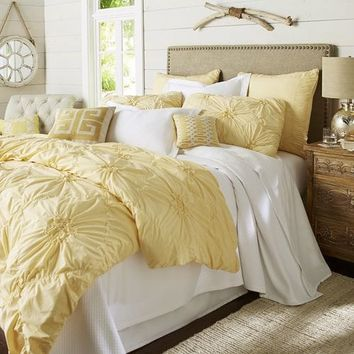 Savannah Yellow Duvet Cover & Sham
