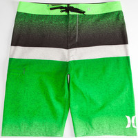 Hurley Phantom Blocked Flight Mens Boardshorts Neon Green  In Sizes