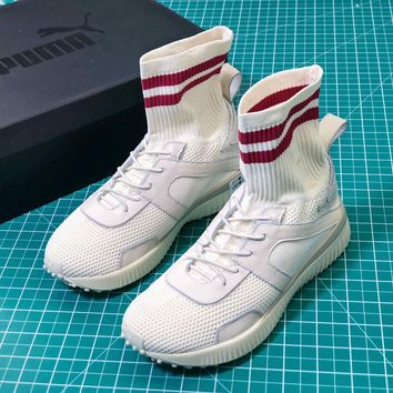 Puma Fenty X Rihanna Trainer High White Socks Shoes - Best Online Sale
