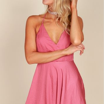The Lux Life Classic Dress Rose